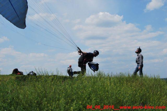 04.06.2016 (суббота) полеты с горки в Ходосеевке – восточный склон.