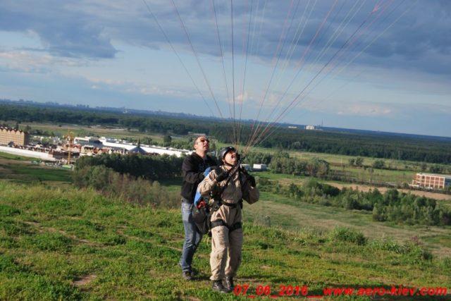 07.06.2016 (вторник) полеты с горки в Ходосеевке – восточный склон.