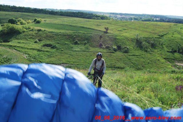 08.06.2016 (среда) полеты с горки в Ходосеевке – западный склон.